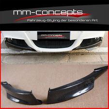 Carbon Spoilerlippe Ansatz für BMW 3er e90 e91 M Paket Performance Flaps M3 Spli