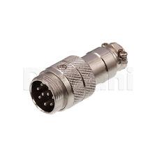 10101510186 Circular Cable Connector 9 Pin Male Silver