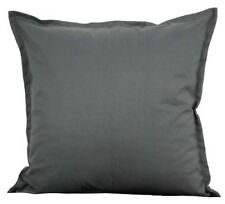 "Two Gray Throw Pillows With Insert Cotton Cushion Sofa 18""X18"" Couch Pair"