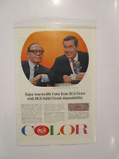 Vintage Johnny Carson Jack Benny Rca Tv Ad Advertising National Geographics