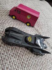 BATMAN - Motorised Turbo Speed Batmobile Bandai 1989 +Ertl Joker Van.MINT!!