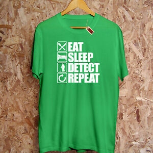 Eat Sleep Detect Repeat T-Shirt Graben Metall Erkennen Hobby Dad Geschenk Kapuze