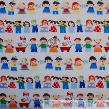 BonEful Fabric FQ Cotton Quilt White Blue Pink Red Dot Kid Pre*School Teacher US