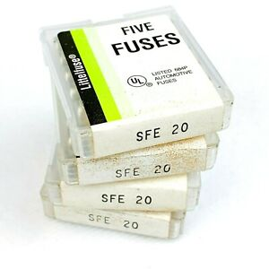 Fuse Auto Trans, Littelfuse SFE20, Set of 20 fuses (4 packs), NOS