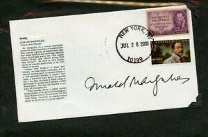 Autographié Enveloppe Donald Margulies Américain Playwright Pulitzer Prix Winner