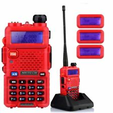 NKTECH UV-5R PLUS Tri-Power 8W 4W 1W Two-Way Radio Dual-Band Walkie Talkie Red