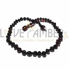 Kids Polished Cherry Genuine Baltic Amber Beads Necklace Blackforest Love Amber