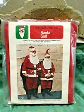 Vintage Santa Claus Suit Plastic One Size Fits All Christmas Halloween Creepy
