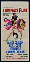 Cartel En Noi Like Flint James Coburn Jane Hale Agente Secreto 007 Spy L154