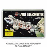 RETRO AIRFIX SPACE 1999 - EAGLE TRANSPORTER ARTWORK JUMBO FRIDGE / LOCKER MAGNET