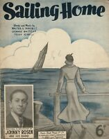 SAILING HOME Recorded by Johnny Rosen and his Band Vintage Sheet Music DA