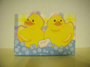 2 CHILD'S BOXCO DUCKIE GIFT BOX FOR GIFT ITEMS, NOS