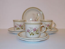 3 x Kilncraft Fine Earthenware Floral Design Cups 6 x Saucers 1 x Plate  Lovely