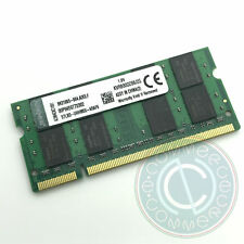 MEMORIA RAM KINGSTON 2 GB 2Rx8 PC2 6400S 800 MHZ DDR2 SO DIMM KVR800D2S6/2G