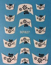 Nail Art 3D Decal Stickers Flower & Butterfly Tips XF827