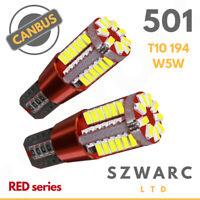 T10 CAR BULBS LED ERROR FREE CANBUS 57 SMD XENON WHITE W5W 501 SIDE LIGHT BULB