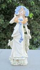 Antique Old Beautiful English Woman Lady Porcelain Ceramic Figure Statue Germany