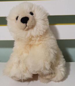 WILD REPUBLIC POLAR BEAR PLUSH TOY! ANIMAL SOFT TOY ABOUT 14CM SEATED KIDS TOY!