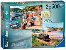 Jigsaw Puzzle PICTURESQUE LANDSCAPES Devon Yorkshire Artist Family Game x 2