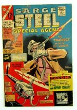 Sarge Steel Special Agent #8 March 1966 Charlton Comic Book Silver Age