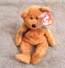 TY Original Beanie Baby Fuzz the Bear Date Of Birth July 23, 1998 - New w/tag