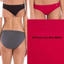 PACK of 03 JOCKEY Women's Panties Bikini Style 1410 - Assorted Light Dark Color