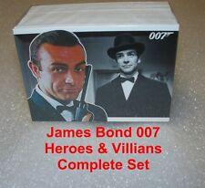 James Bond 007 - Heroes & Villans        Complete BASE SET