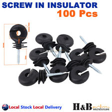 Hi Quality 200 Screw in Insulator Polyrope Ring Farm Electric Fence Wood Timber