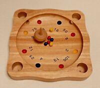 Gioco della roulette tirolese con base, trottola e palline in legno