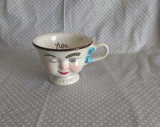 VTG Baileys Irish Cream Yum Winking Face Lady Tea Cup Mug