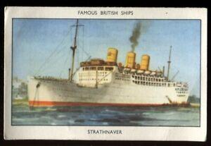 Amalgamated Tobacco, Mills, FAMOUS BRITISH SHIPS, Series 2, 1952, Strathnaver,#9