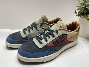 Reebok Kung Fu Panda Club C 85 Patchwork Men's Tennis Sneakers Shoes GZ8634 11.5