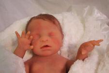 "Full body silicone reborn baby doll anatomically correct girl 18"" custom made"