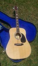 Suzuki Violin Company Three S F200 Acoustic Guitar In Case Vintage