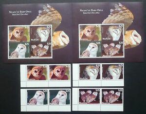 2 x Niuafo'ou 2012 Mi. 475-78 + Block 44 ** MNH Eulen Owls Vögel  Mi. 440,-- €