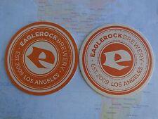 Beer Brewing Coaster ~*~ EAGLE ROCK Brewery ~ Los Angeles, CALIFORNIA Since 2009