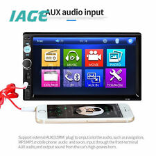 "7010B 7""in HD Bluetooth Car Stereo Radio MP5 Player FM USB Berühren Screen Rear"