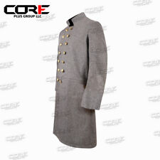 Us Civil War Cs Senior Officer's Double Breasted Grey Wool Frock Coat- All sizes