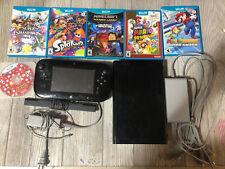 Nintendo Wii U 32 GB System Bundle 6 games Super Smash Bros Mario 3D World Lot !