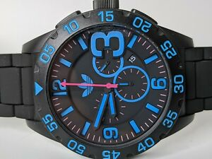 Adidas Originals Newburgh Chronograph Watch Black ADH2886 48mm