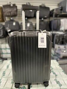 Rimowa Essential Cabin suitcase luggage Black Matte Spinner travel bag