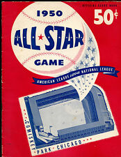 1950 MLB Baseball All Star Game Program at Chicago White Sox VGEX
