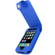 Azul De Cuero Pu Funda Para Apple Iphone 3g 3gs De 8 Gb 16 Gb 32 Gb Titular