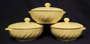 Franciscan Off-White Matte CORONADO Individual Casserole and Lid (3) * STUNNING