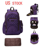 New Unisex Smart Multi-function Waterproof Backpack Baby Diaper Bag+Changing Pad