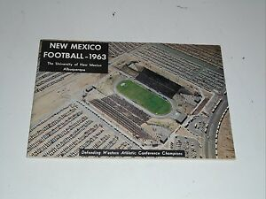 1963 NEW MEXICO W.A.C. CHAMPS COLLEGE FOOTBALL MEDIA GUIDE EX-MINT BOX 33