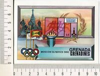 36714) Grenada Grenadines 1980 MNH Olympic Games