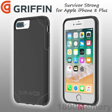 Genuine Griffin Survivor Strong Case Black Grey for Apple iPhone 8 Plus 7 6