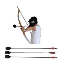 12x Carbon Arrows+Foam Broadhead Tip for Larp Archery Combat Tag Game