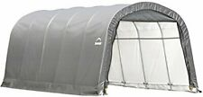 ShelterLogic Garage-in-a-Box Rountop, Grey, 12 x 20 x 8 ft.